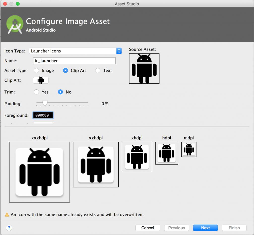 nueva imagen con AndroidStudio
