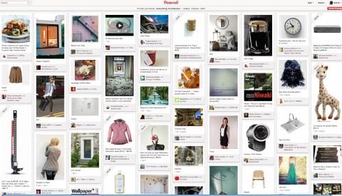 Layout de Pinterest