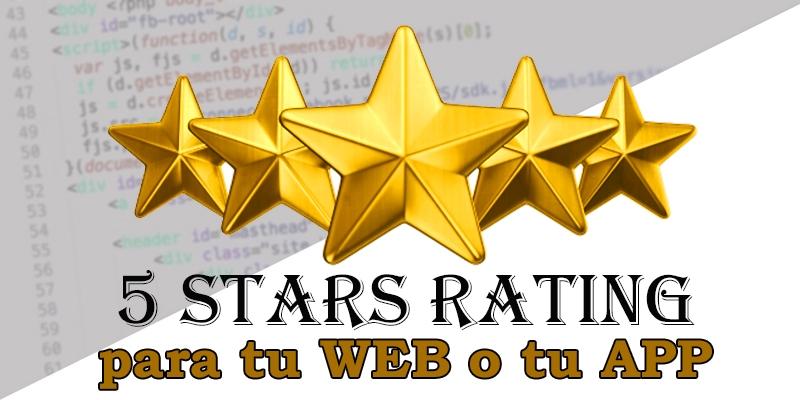 rating 5 estrellaspara web en PHP